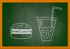 Drawing of hamburger Stock Images