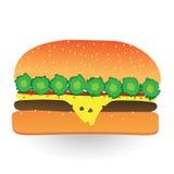 Drawing hamburger patties Royalty Free Stock Photo