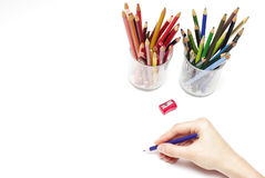 Drawing hand Stock Photography