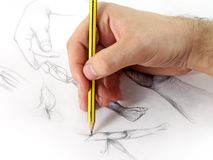 Drawing Hand. The photo of drawing hand Stock Photography