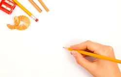 Free Drawing Hand Royalty Free Stock Image - 35733146