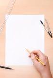 drawing hand male Στοκ εικόνες με δικαίωμα ελεύθερης χρήσης