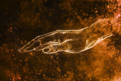 Drawing hand, pencil sketch on paper, sepia and vintage effect. Royalty Free Stock Photo