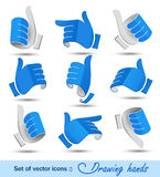 Drawing hands Royalty Free Stock Photo