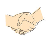 Drawing of handshake Stock Photos