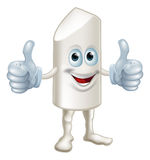 Happy cartoon chalk stick man Stock Image
