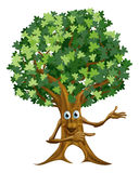 Tree man pointing illustration Royalty Free Stock Images