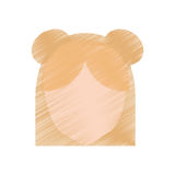 drawing head girl faceless hairstyle Royalty Free Stock Photos