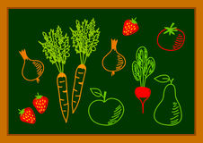 Drawing of healthy food Royalty Free Stock Image