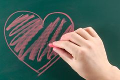 Drawing heart Stock Images