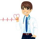 Drawing Heart医生 免版税库存图片