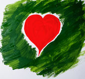Drawing heart Royalty Free Stock Image
