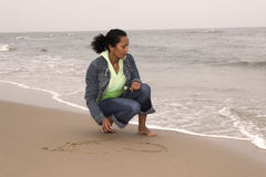 Drawing a heart Stock Photos