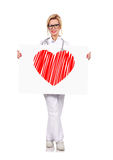 Drawing heart Stock Photography