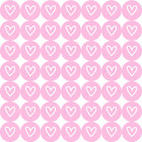 Drawing heart on pink button background. Vector EPS10. Royalty Free Stock Photos