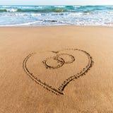 Drawing heart Royalty Free Stock Photo