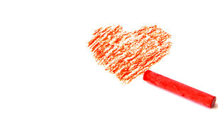 Drawing a heart shape Royalty Free Stock Photography