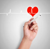 Drawing heart symbol Stock Images