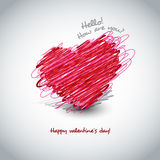 Drawing heart for Valentine's day card Royalty Free Stock Images
