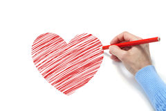 Drawing of the heart Stock Image
