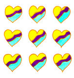 Drawing of hearts. Stock Photography