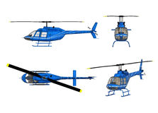 Drawing of helicopter structure Royalty Free Stock Photography