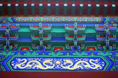 Drawing of Historic Chinese Pavilion Stock Photography