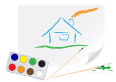 Drawing home Stock Image