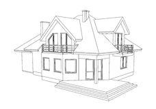 Drawing of a home royalty free illustration
