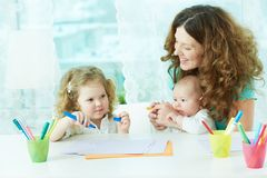 Drawing at home Royalty Free Stock Photography