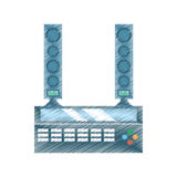Drawing home theater sound movie tv Royalty Free Stock Photos