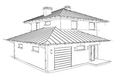 Drawing home. On a white background Royalty Free Stock Photography