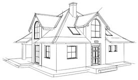 Drawing home. On a white background Stock Photos