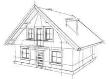 Drawing home. On a white background Stock Photography
