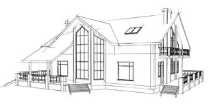 Drawing home Stock Photo
