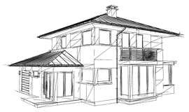 Drawing home. On a white background Royalty Free Stock Photo