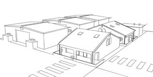 Drawing home. On a white background Royalty Free Stock Images