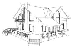 Drawing home. On a white background Royalty Free Stock Image