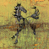 Drawing of a horse. Abstract animals art Royalty Free Stock Photography