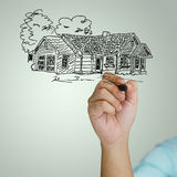 Drawing house Stock Images
