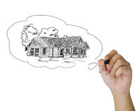 Drawing house Royalty Free Stock Image