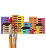 Drawing the house Stock Photography