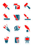 Drawing icons Stock Photo