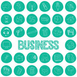 Drawing icons. Business Strategy Stock Photos