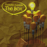 Drawing idea pencil and light bulb concept think outside the box Stock Images
