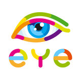Drawing and the inscription of the eyes. Vector illustration Stock Photography