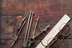 Drawing Instrument Set Royalty Free Stock Image