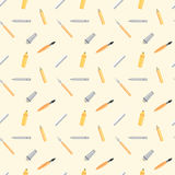 Drawing Instruments Seamless Pattern Stock Images