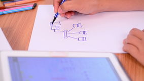 Drawing internet network design Stock Images