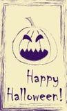 Drawing of jack o lantern pumpkin Stock Photography